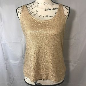 Talbots Woman's Petites Sequence Tank Top Size L